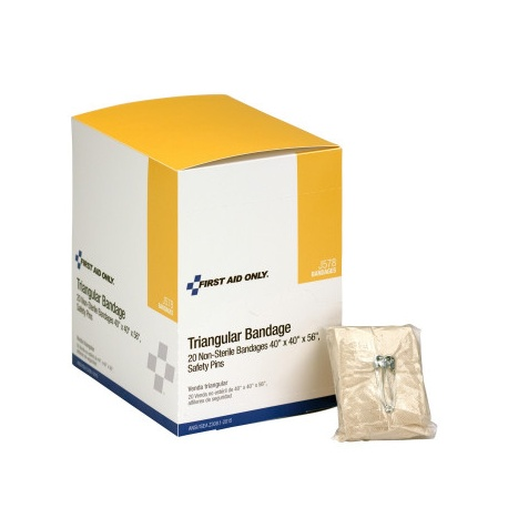 Triangular sling/bandage with 2 safety pins - 20 per box