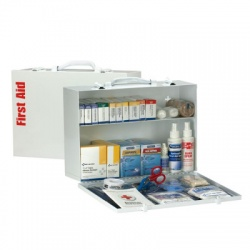 2 Shelf First Aid ANSI A+ Metal Cabinet, with Meds