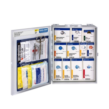 American Red Cross Medium Food Industry First Aid Cabinet with SmartTab
