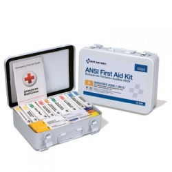 25 Person 16 Unit ANSI A First Aid Kit, Steel, Weatherproof