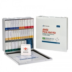 54 Unit First Aid Kit, ANSI B, Metal Case