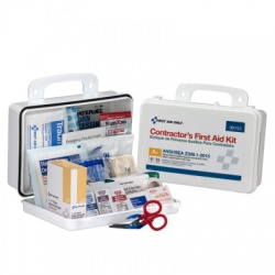 25 Person Contractor ANSI A+ First Aid Kit, Plastic Case