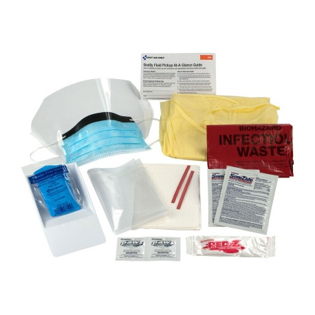 16 Piece Bodily Fluid Clean Up Pack/Case of 6 @ $14.40 ea.