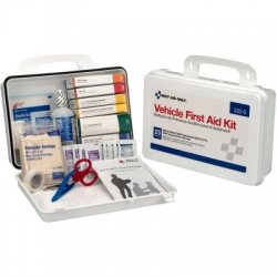 92 pc Vehicle First Aid Kit, plastic case w/gasket