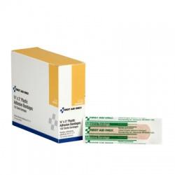 "3/4""x3"" Adhesive plastic bandage - 100 per box"