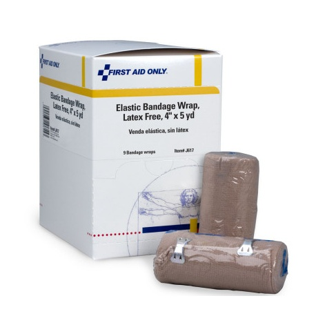 """4""""x5 yd. Elastic bandage with two fasteners"""
