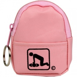 CPR BeltLoop/KeyChain BackPack: PINK - Shield-Gloves-Wipe