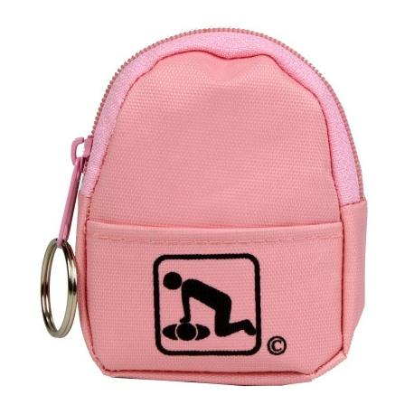 CPR BeltLoop/KeyChain BackPack: PINK - Shield-Gloves-Wipe