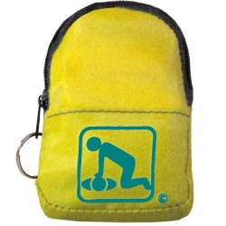 CPR Beltloop/KeyChain BackPack: YELLOW - Shield-Gloves-Wipe