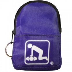 CPR Beltloop/KeyChain BackPack: PURPLE - Shield-Gloves-Wipe