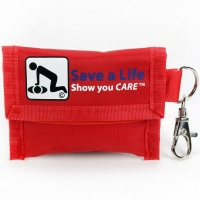 Genuine First Aid CPR Keychain with Gloves