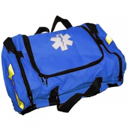 EMPTY FIRST RESPONDER BAG W/ RIGID FOAM INSERT - BLUE