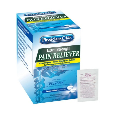 Extra-Strength Pain Reliever Tablets - 250 per box