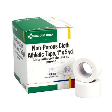 "1""x5 yd. Non-porous cloth athletic tape - 10 per box Case of 12 @ $16.48 ea."