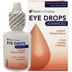 Medic's Choice Advanced Relief Eye Drops - 1 Each/Case of 24 $2.85 each