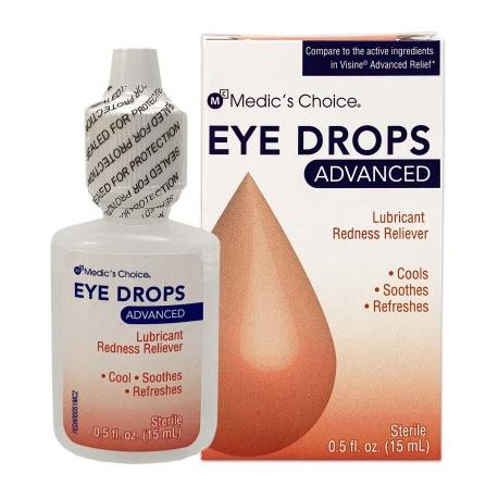 Medic's Choice Advanced Relief Eye Drops - 1 Each/Case of 24 $2.85 each