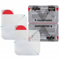 """HYFIN VENT CHEST SEAL, 6"""" X 6"""", TWIN PACK"""