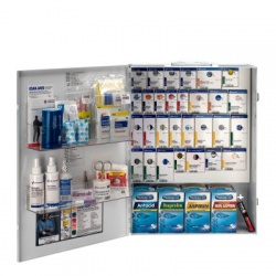 XL METAL SMART COMPLIANCE GENERAL BUSINESS FIRST AID CABINET WITH MEDS