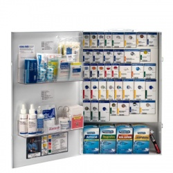 XXL METAL SMART COMPLIANCE GENERAL BUSINESS FIRST AID CABINET WITH MEDS