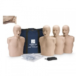 Prestan Adult Jaw Thrust CPR Manikin w/o CPR Monitor - 4 Pack - Medium or Dark Skin