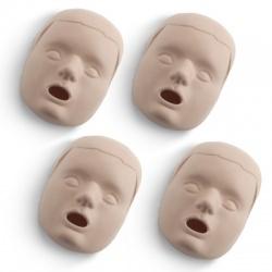 REPLACEMENT FACES FOR PRESTAN CHILD / PEDIATRIC MANIKINS - 4 PACK - MEDIUM SKIN