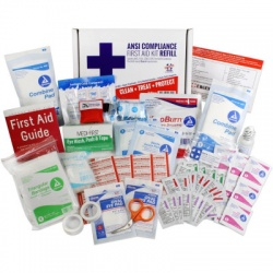 Bulk First Aid Kit Refill, 73 Pieces, ANSI A, 10 Person