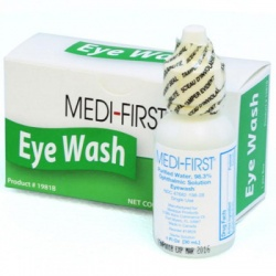 Eye wash, 1 oz. plastic bottle