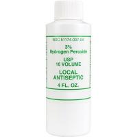 3% Hydrogen peroxide, 4 oz. plastic bottle - 1 each