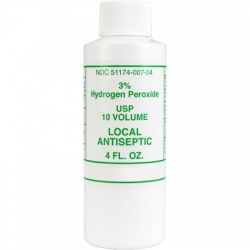 3% Hydrogen peroxide, 4 oz. plastic bottle - 1 each