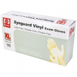 Powder Free Vinyl Exam Gloves - Large - 100 Per Box