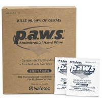 P.A.W.S.™ antimicrobial (kills germs) wipe - 100 bx
