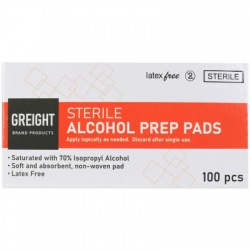 Alcohol Wipes, 100 Wipes Per Box
