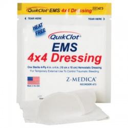 """QUIKCLOT EMS DRESSING, 4"""" X 4"""" (10 CM X 10 CM)"""