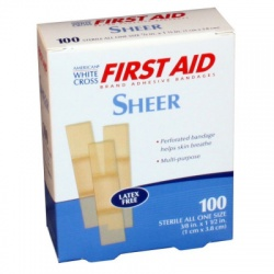 """The First Aid Only Junior Bandage, Plastic 3/8""""x1-1/2"""" - 80 Per Box"""