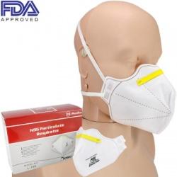 N95 Respirator Face Mask, NIOSH Approved, 20 per box, Model L-188
