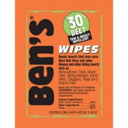 Ben's 30 Tick & Insect Repellent Wipes - 12 per box