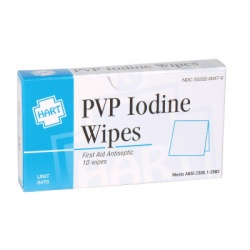 PVP Iodine Wipes, 10 per box