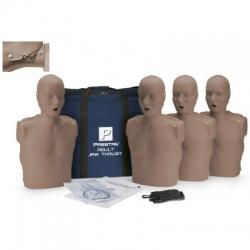 Prestan Adult Jaw Thrust CPR Manikin w/ CPR Monitor - 4 Pack - Light Skin