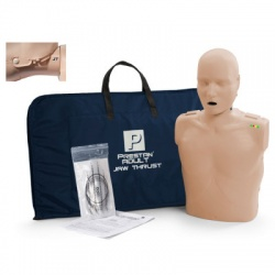 Prestan Adult Jaw Thrust CPR Manikin w/ Monitor - Light Skin