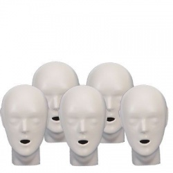 5-pack Adult/Child heads -Tan