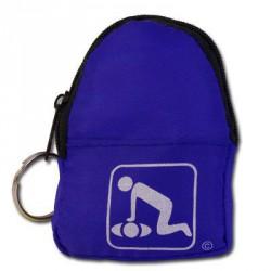 CPR BeltLoop/KeyChain BackPack: BLUE - Shield-Gloves-Wipe