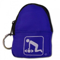 CPR BeltLoop/KeyChain BackPack: BLUE - Shield-Gloves-Wipe