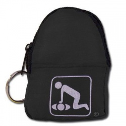 CPR Beltloop/KeyChain BackPack: BLACK - Shield-Gloves-Wipe