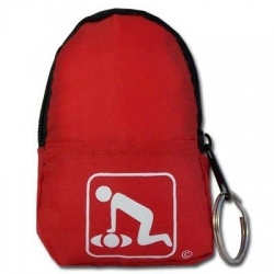 CPR BeltLoop/KeyChain BackPack: RED - Shield-Gloves-Wipe