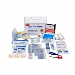 25 Person, 105 piece bulk ANSI kit, plastic case/Case of 10 @ $21.57 ea.