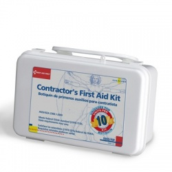 Bilingual Contractor's First Aid Kit, 10 person