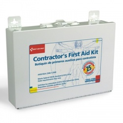 Bilingual Contractor's First Aid Kit, 25 person