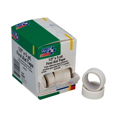 "1/2""x5 yd. First aid tape roll - 20 per box"