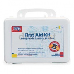 25 Person Bulk First Aid Kit - plastic/Case of 12 @ $19.20 ea.