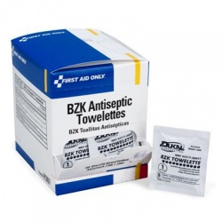 "4-3/4""x7-3/4"" Antiseptic cleansing wipe (sting free) - 50 per box/Case of 12 $3.76 each"